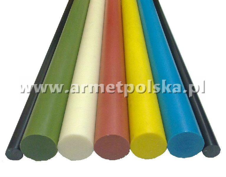 Kolorowe wałki poliamidowe